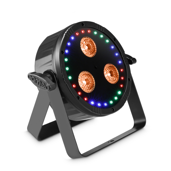 Adam Hall Cameo FLAT STAR прожектор 2-in-1 RGBWA+ UV PAR Light with RGB Ring