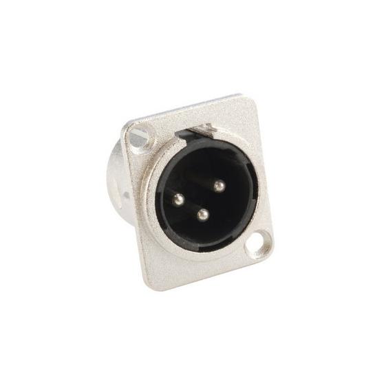 Adam Hall 7838 Разъем панельный XLR 3-pin тип-D (вилка)