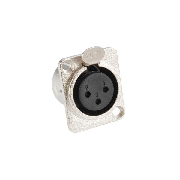 Adam Hall 7837 Разъем панельный XLR 3-pin тип-D (розетка)