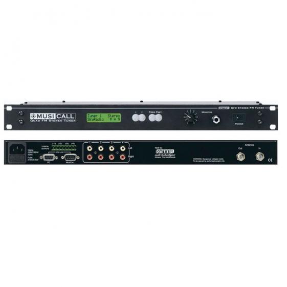 MUSICALL QFM 4 Четырехканальный стерео FM-тюнер с управлением по RS232 для аналоговых матриц Musical