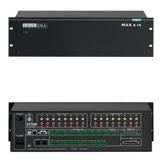 MUSICALL MAX-8.16 Аналоговая звуковая матрица 8 входов х 16 выходов