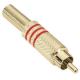 Adam Hall 7623RED Разъем кабельный RCA (штекер)