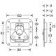 Adam Hall 17295P замок-бабочка средний с петлями для навесного замка