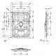 Adam Hall 172572P замок-бабочка большой с петлями для навесного замка и с откидывающей пружиной