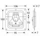 Adam Hall 17292SP замок-бабочка средний с петлей для навесного замка и с пружиной