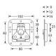 Adam Hall 17291SP замок-бабочка средний пружинный с петлей для навесного замка