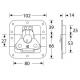 Adam Hall 17293S замок-бабочка средний пружинный