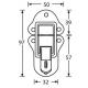 Adam Hall 1608 замок-захват средний никелированный с ключом