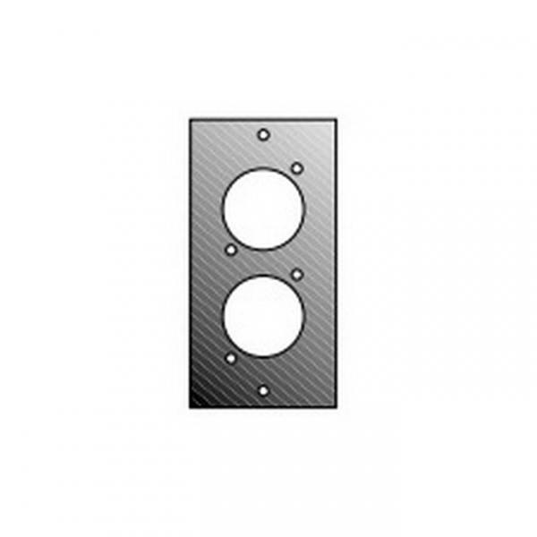 Adam Hall 872832  Панель 1/10 для 2-х спиконов/канонов для модульного конструктора