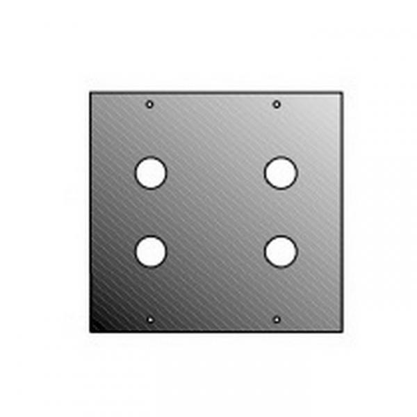 Adam Hall 872824 Панель 2/10 для 4-х RCA/JACK для модульного конструктора