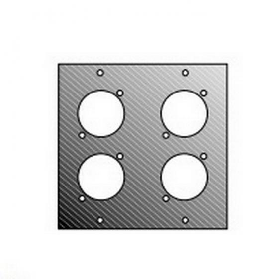 Adam Hall 872834 Панель 2/10 для 4-х спиконов/канонов для модульного конструктора