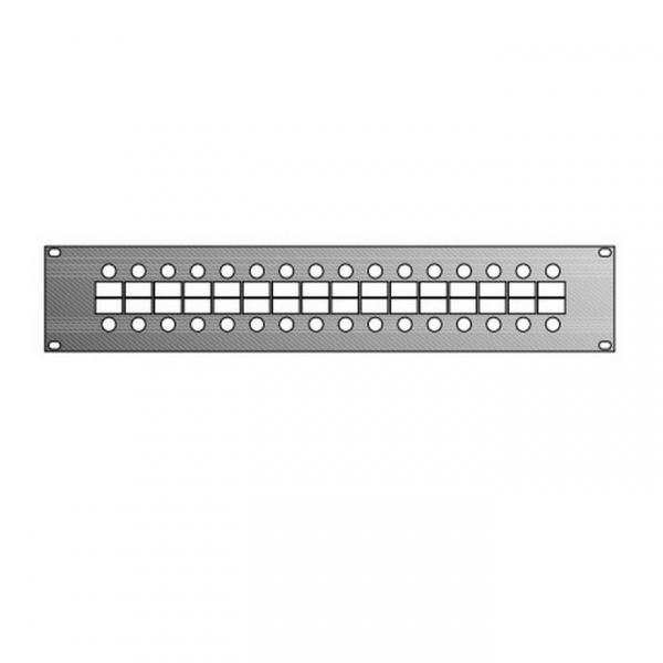 Adam Hall 87201 Панель 2U с 32-мя отверстиями для разъемов JACK или RCA