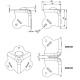 Adam Hall 4006-05 уголок квадратный с тремя ножками