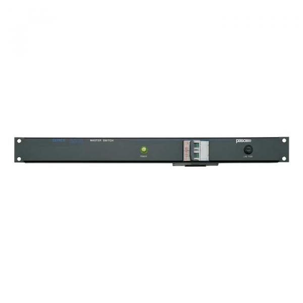 PASO P8001-B панель 1U с автоматом 16 А и индикатором питания