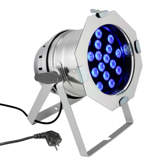 Cameo PAR 64 CAN прожектор 18x3W TRI Color LED PAR Can RGB