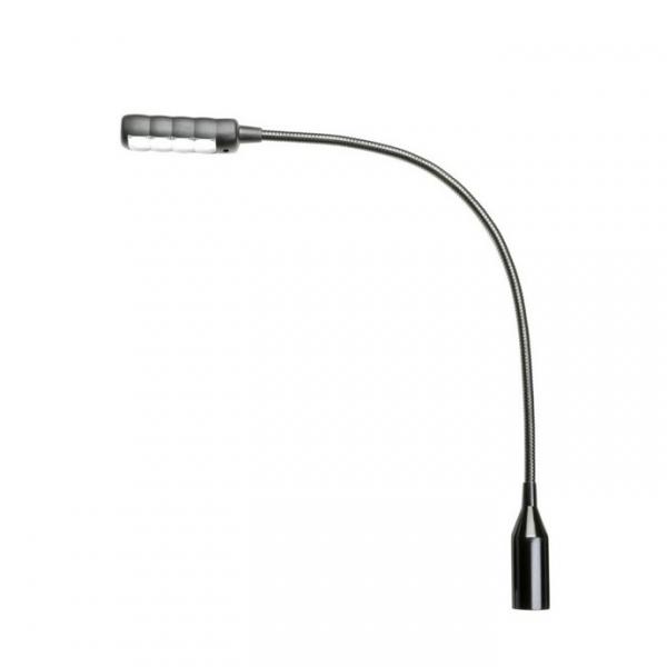 "Adam Hall Stands SLED 1 ULTRA  XLR 3 Подсветка на ""гусиной шее"" c 3-pin XLR, 4 COB LEDs"