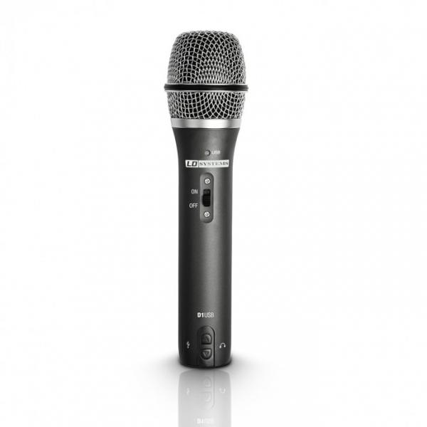 LD Systems D1USB Динамический кардиоидный вокальный микрофон с USB подключением