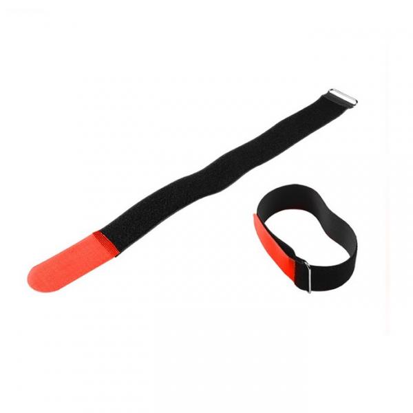 Adam Hall VR 5080 RED Стяжка для кабеля 80 см с крючком красная