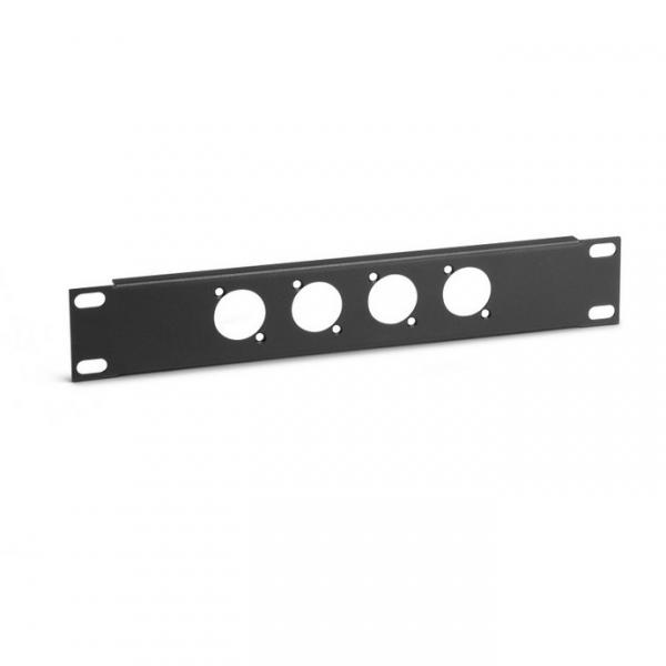 """Adam Hall 862215 Панель 9,5"""" 1U под 12 разъемов типа D с панелью фиксатора кабеля"""