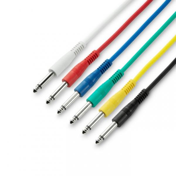 Adam Hall 3 STAR IPP 0015 комплект кабелей патч-корд 6.3 мм Jack mono, 6 шт, 0.15 м