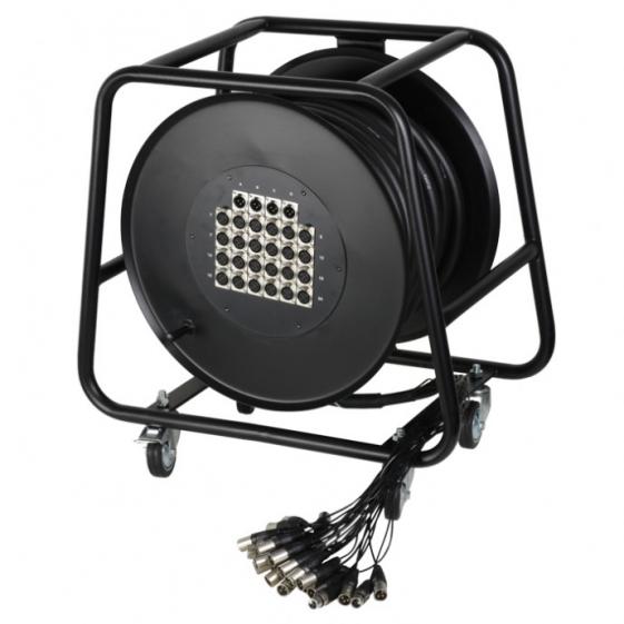 Adam Hall K28C30D Готовый мультикор на барабане 24/4 канала 30 м