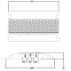 ADAM HALL Defender III 85002 кабельная защита (3 - канальный) 100 см