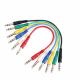 Adam Hall K3BVV0060SET комплект кабелей патч-корд 6.3 мм Jack стерео - 6.3 мм Jack стерео, 6 шт, 0.6