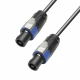 Adam Hall K4S225SS2000 кабель акустический 2 x 2.5 мм² разъемы Speakon, 4-pin 20 м