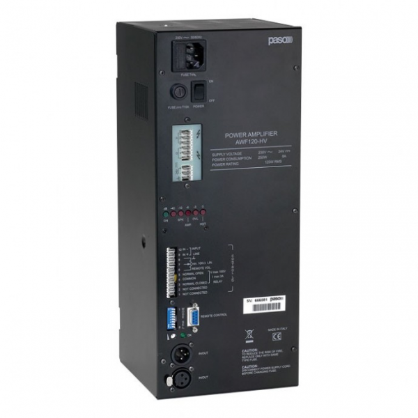 PASO AWF120-HV Промышленный оконечный усилитель мощности 120 Вт