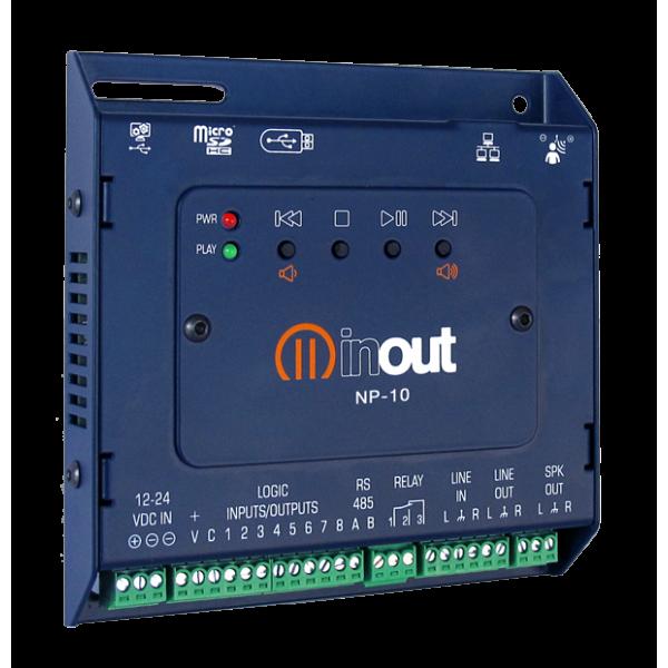 INOUT NP-10/E управляемый флеш-аудио плеер со встроенным усилителем