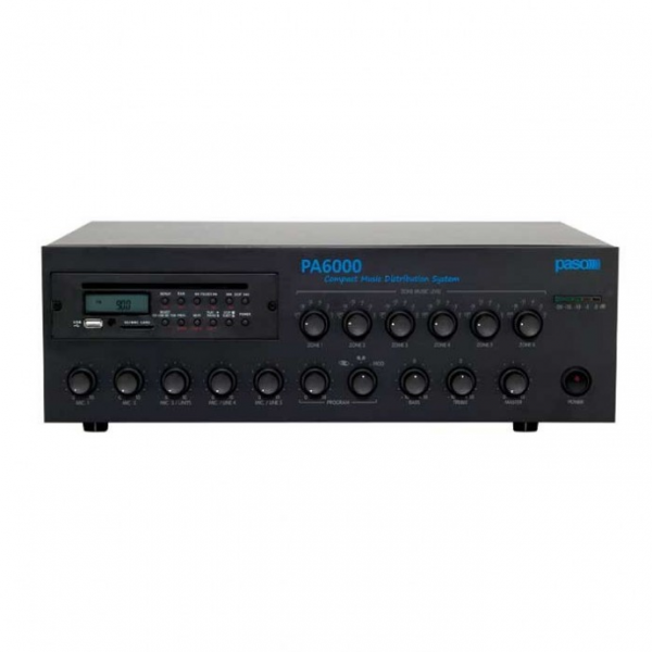 PASO PA6120 AM/FM-тюнер CD-MP3 USB-SD/MMC