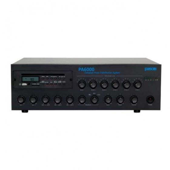 PASO PA6240 AM/FM-тюнер CD-MP3 плеер USB-SD/MMC 240 Вт