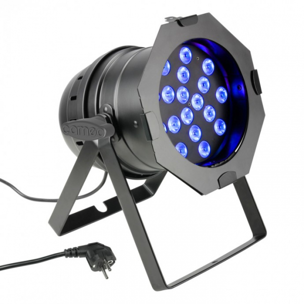 Cameo PAR 64 CAN прожектор 18x3W TRI Color LED PAR Can RGB BS