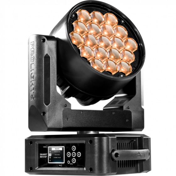 ProLights DIAMOND19TW (Music&Lights) LED-washer вращающаяся голова 19x15W Osram WW/CW Ostar LED