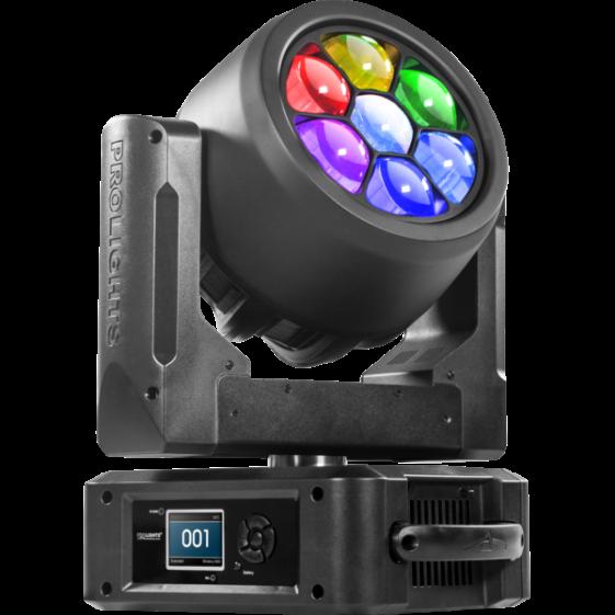 ProLights STARK400 (Music&Lights) вращающаяся голова 7x40W RGBW Osram Ostar LED