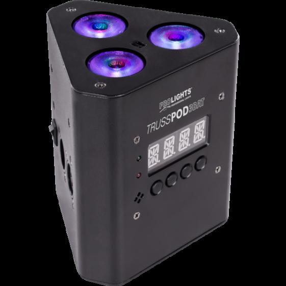 MUSIC & LIGHTS TRUSSPOD3BAT беспроводной световой прибор, 3 x 3 W